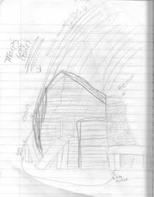 sketch: Tharp's Cabin