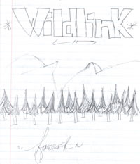 Maria's sketch: WildLink with mountains and trees