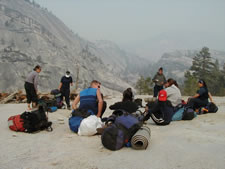 Photo: lunch along Merced River Canyon