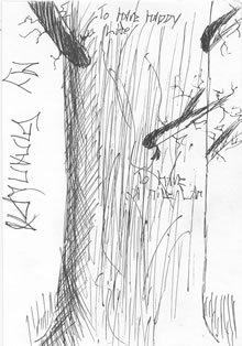 drawing: Javier's tree trunk