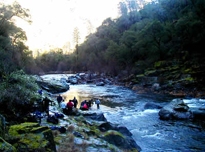 students on the south fork of the merced