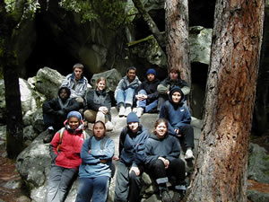 group at Spider Cave