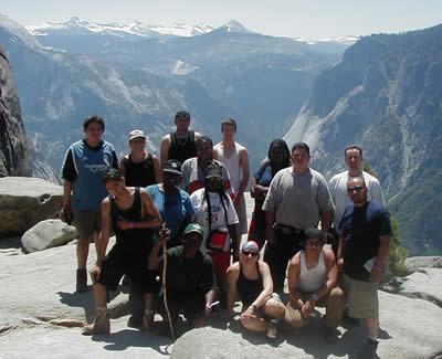 Group at Yosemite Falls Overlook