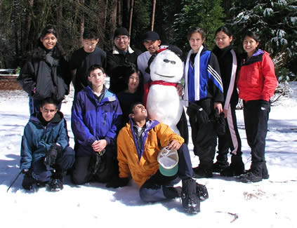 group with snowman