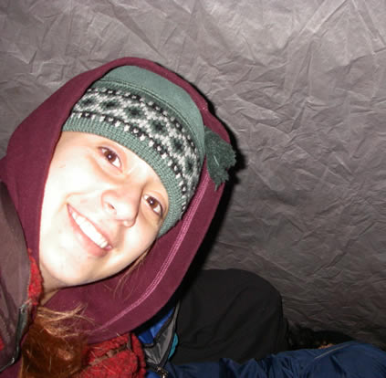 marcela in the tent