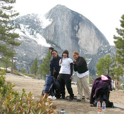 women by half dome