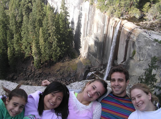nevada falls with family