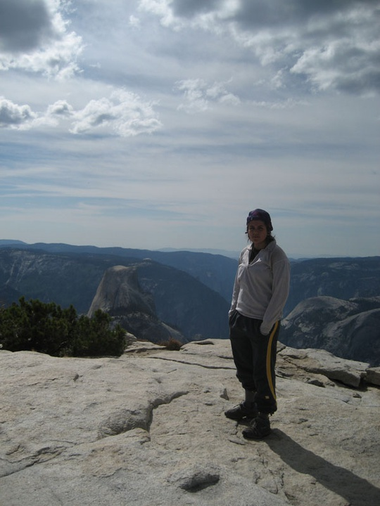 Gisell above Half Dome