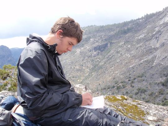 Cory journaling