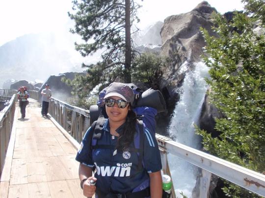Cynthia at Wapama Falls