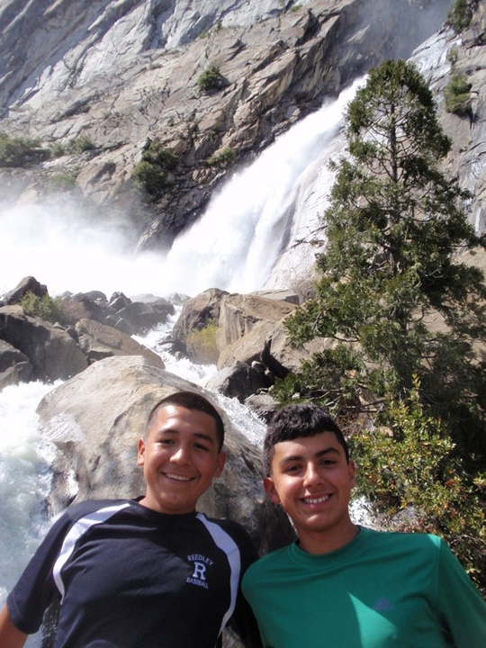 Juan and Arturo at Wapama Falls