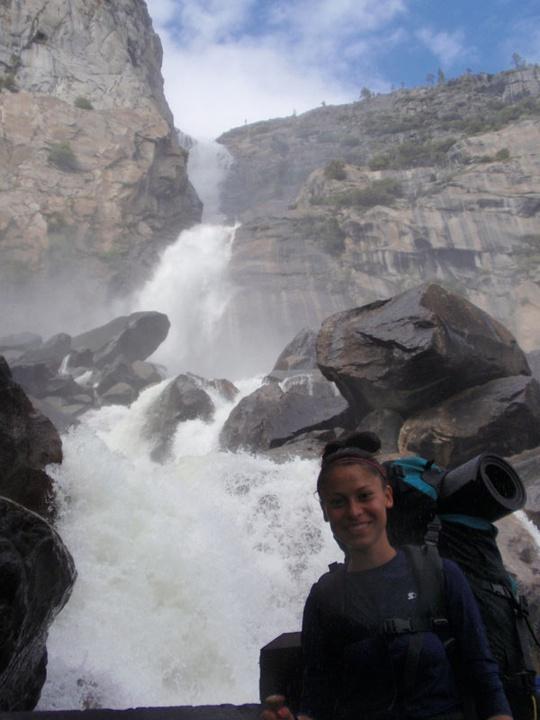 Viviana with Wapama Falls