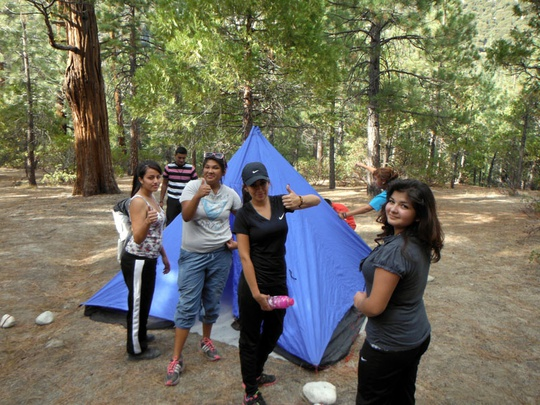 Girls Tent Group