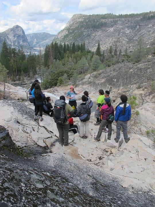 Group Circle at Rancheria Creek