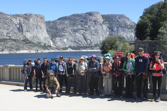 Group on dam