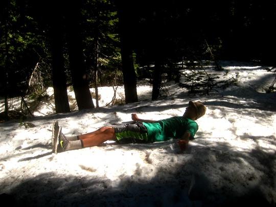 David Lays in Snow