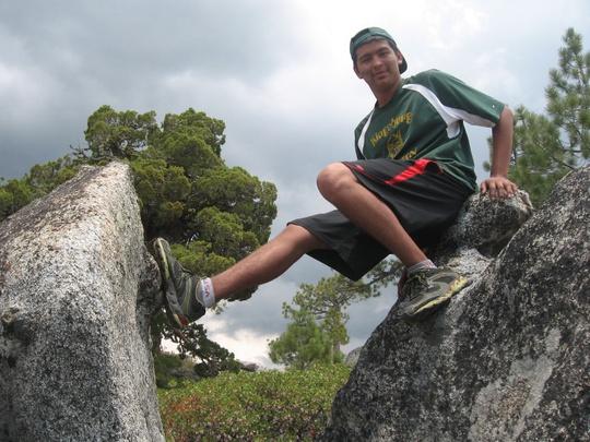 Felipe Between Rocks
