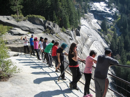 Group Nevada Falls