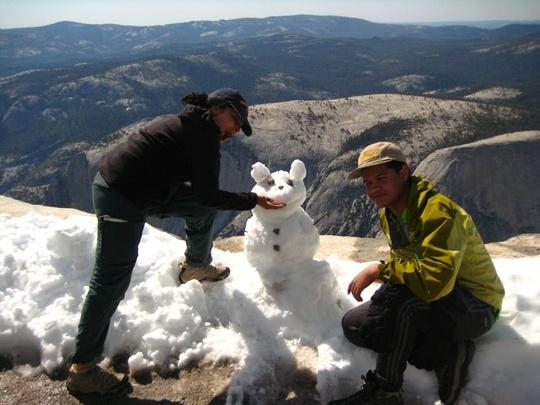 snowman up high