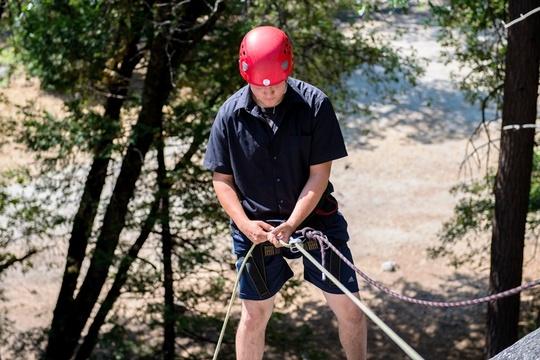 Alex Rock Climbing