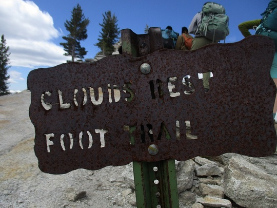 clouds rest sign