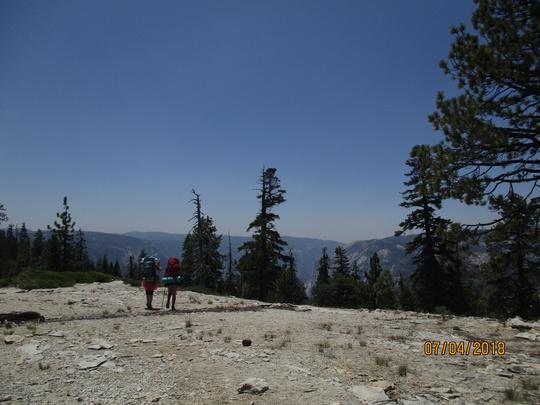 Hiking Across Rock